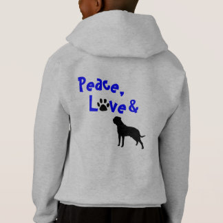 Bully Love Peace, Love and Bullmastiff Hoodie