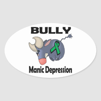 BULLy Manic Depression Oval Stickers
