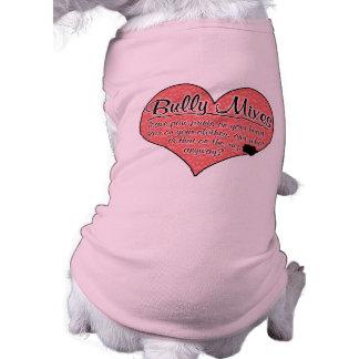 Bully Mixes Paw Prints Dog Humor Doggie Tee Shirt