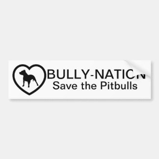Bully-Nation Save The Pitbulls Bumper Sticker