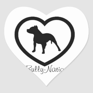 Bully Nation Stickers Heart Pit Bulls