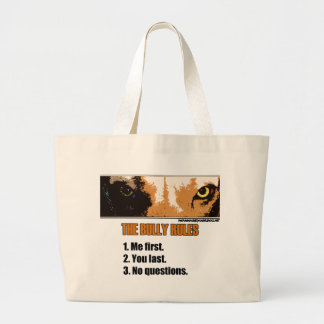 Bully Rules Large Tote Bag