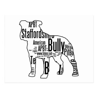 Bully Shape with rescue words Postcard
