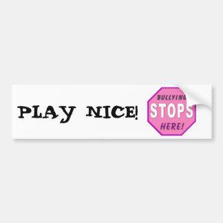 Bully Stops Here Bumper Sticker