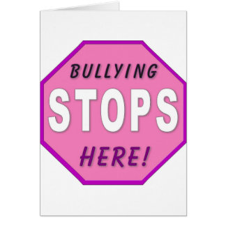 Bully Stops Here Greeting Card
