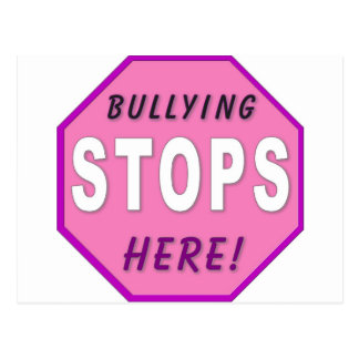 Bully Stops Here Postcard