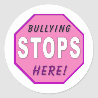 Bully Stops Here Classic Round Sticker