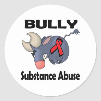 BULLy Substance Abuse Round Sticker