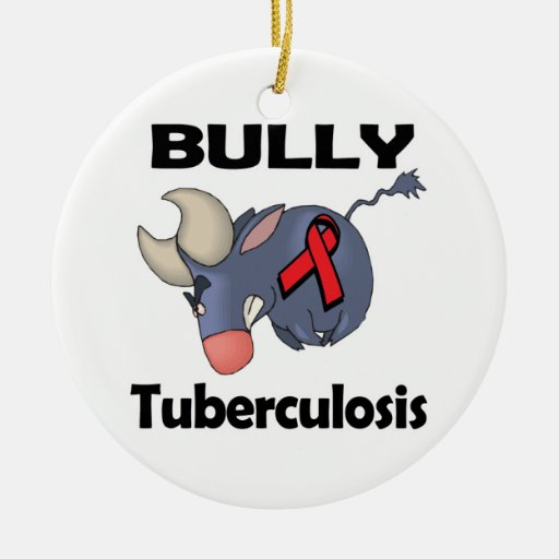 BULLy Tuberculosis Double-Sided Ceramic Round Christmas Ornament