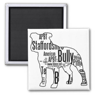 Bully Words 2 Inch Square Magnet