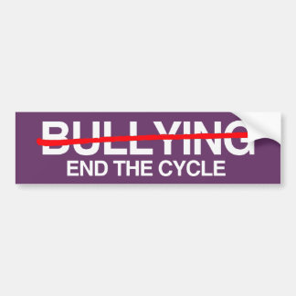 BULLYING END THE CYCLE -.png Bumper Sticker