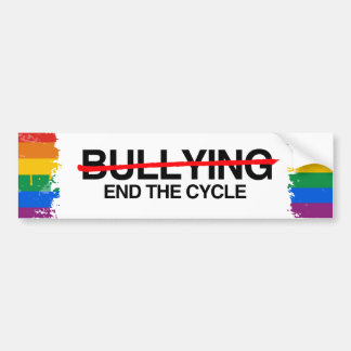BULLYING END THE CYCLE -.png Car Bumper Sticker