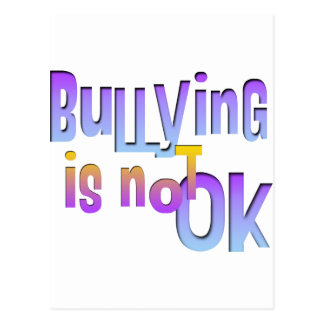 Bullying is NOT OK Postcard