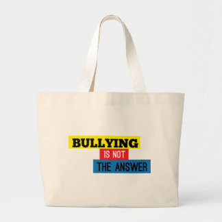 Bullying is not the answer canvas bag