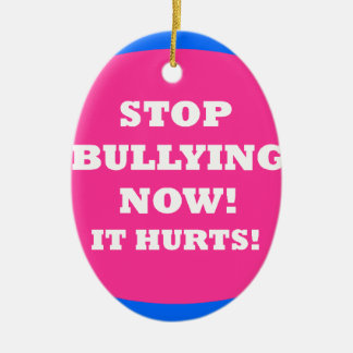 BULLYING.png Double-Sided Oval Ceramic Christmas Ornament