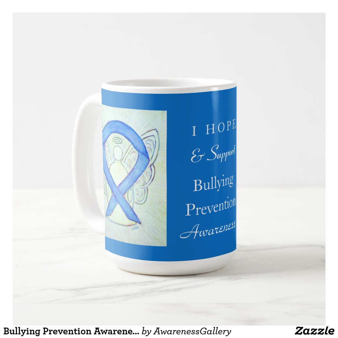 Bullying Prevention Awareness Ribbon Coffee Mugs