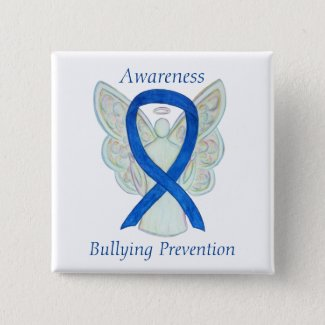 Bullying Prevention Awareness Ribbon Pin Buttons