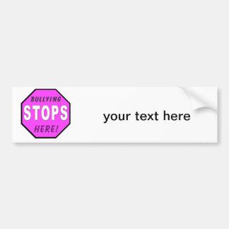 Bullying STOPS Here Bumper Sticker