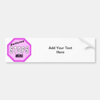 Bullying Stops Here Car Bumper Sticker