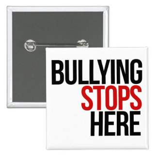 Bullying stops here no bullies button