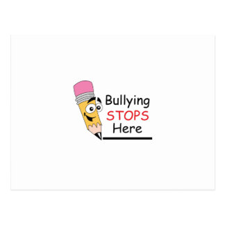 BULLYING STOPS HERE POST CARD