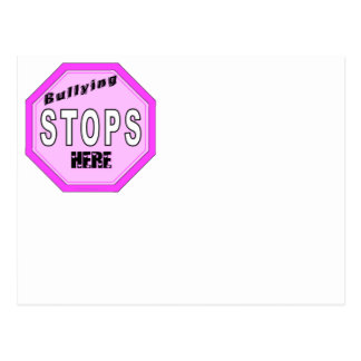 Bullying Stops Here Post Cards