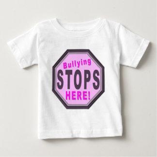 Bullying Stops Here Purple Baby T-Shirt