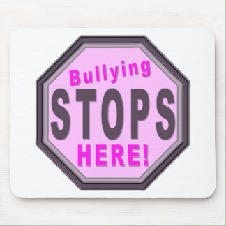 Bullying Stops Here Purple Mouse Pad