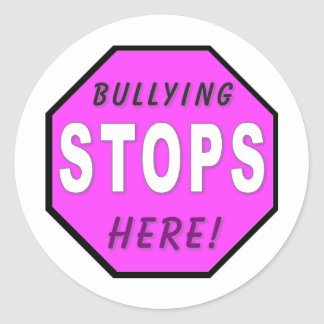 Bullying STOPS Here Sticker