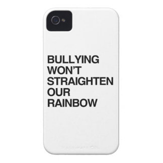 BULLYING WON'T STRAIGHTEN OUR RAINBOW iPhone 4 COVER