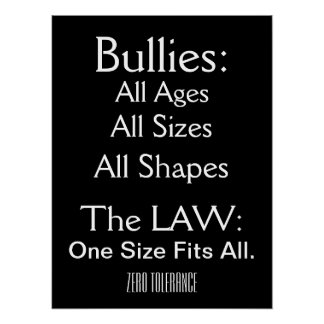 Bullying - Zero Tolerance - SRF Posters
