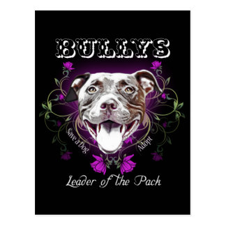 Bullys, the Leader of the Pack Dog Postcard