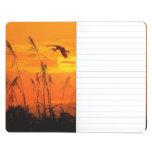 Bulrushes against sunlight over sky background journal