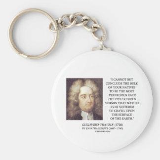 Bulto de Jonathan Swift de tierra odiosa de los bi Llavero