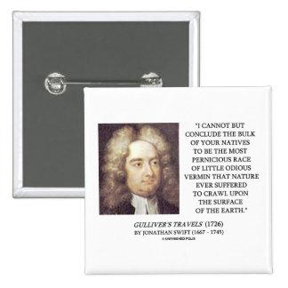 Bulto de Jonathan Swift de tierra odiosa de los bi Pin Cuadrada 5 Cm