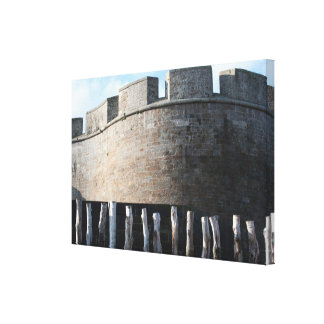 Bulwark Fortifications Saint Malo Brittany Canvas
