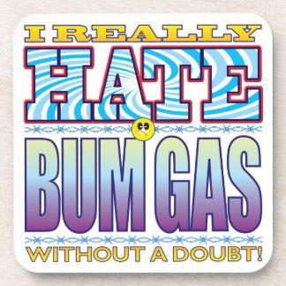 Bum Gas Hate Face Drink Coaster