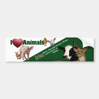 Bumber Sticker, Grill, Animals, Steak, Deer, Pork Bumper Sticker