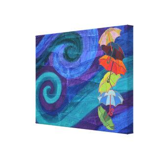 Bumbershoots colorido lona estirada galerias