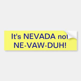 bumbersticker de Nevada Etiqueta De Parachoque
