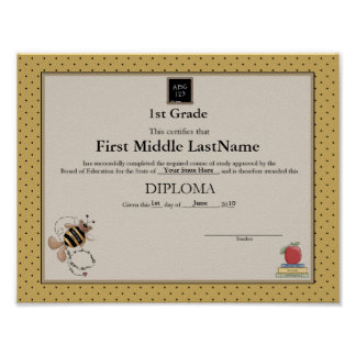 Bumble Bear Homeschooler Diploma Print