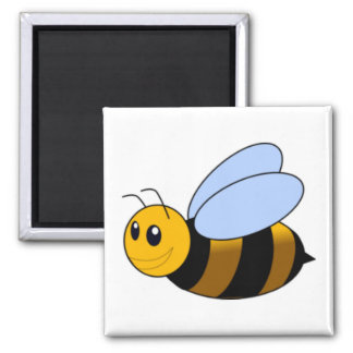 Bumble Bee 2 Inch Square Magnet