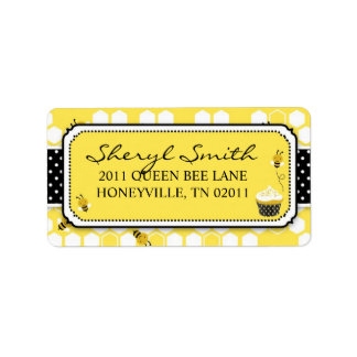Bumble Bee Address Label