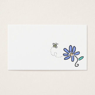 Bumble Bee and Blue Flower Business Card