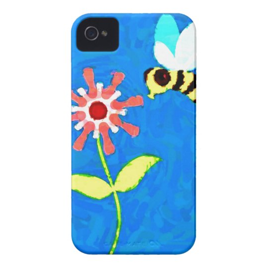 Bumble Bee and Flower Blackberry Bold Case