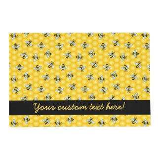 Bumble Bee and Honeycomb Pattern Placemat