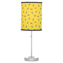 Bumble Bee and Honeycomb Pattern Table Lamp