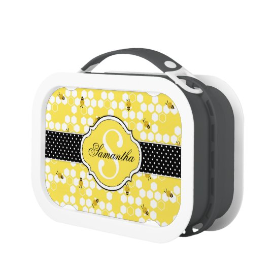 Bumble Bee and Monogram Lunch Box