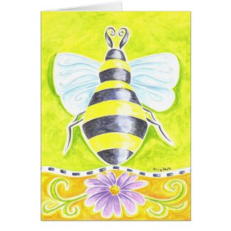 Bumble Bee and Purple Daisy Card