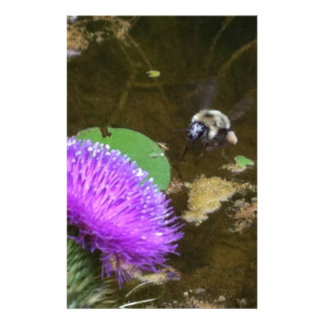Bumble Bee and Thistle Stationery